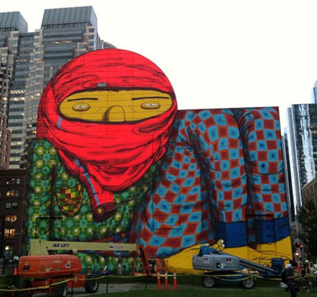 Os Gemeos - Ica Boston Mural