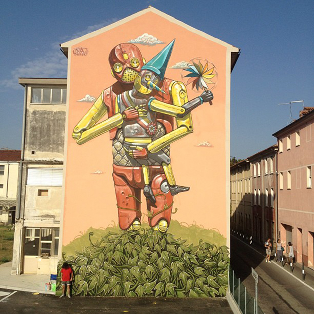 Pixel Pancho - New Mural in Bassano for Infart 6