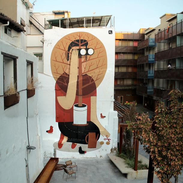 Agostino Iacurci - Future Simple New Mural in Saragoza