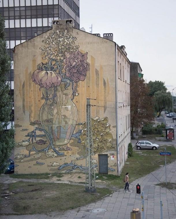 """Aryz – """"Requiem"""" New Mural in Poland"""