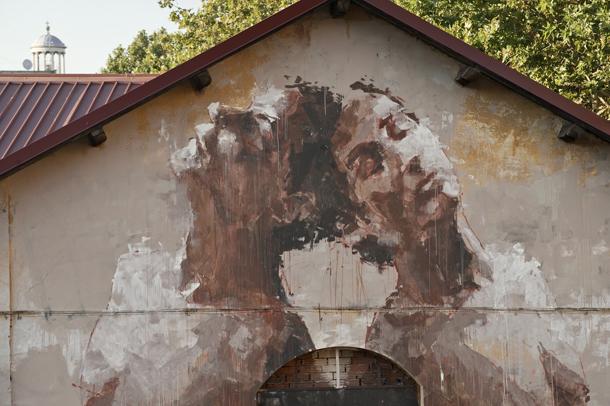 Borondo at Outdoor Urban Art Festival 2012