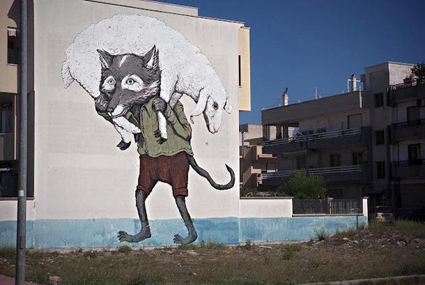 Ericailcane – New Mural for FAME Festival 2012 Part. II