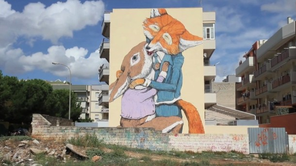Ericailcane – New Mural for FAME Festival 2012