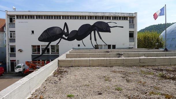 Escif Ne Travaillez Jamais Mural for Bien Urban Festival