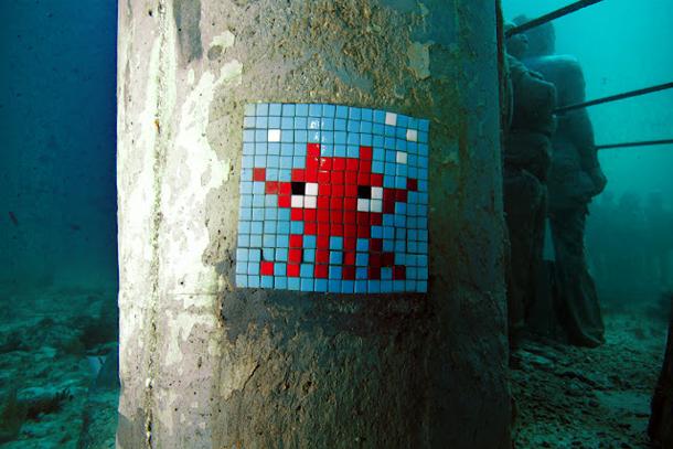 Invader - New Installation Underwater