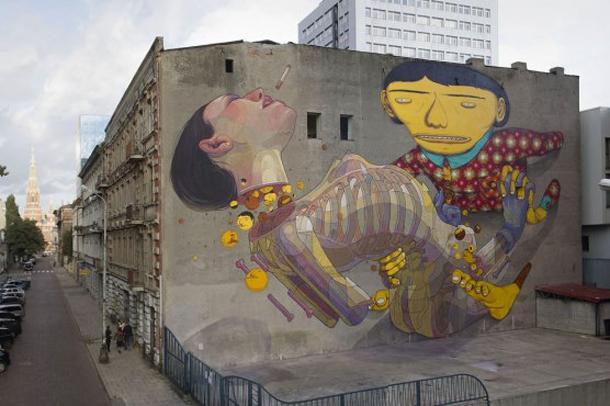 Os Gemeos x Aryz – New Mural in Poland Part II