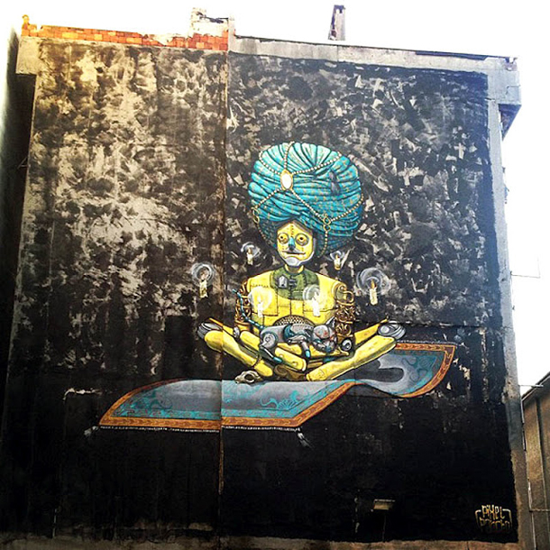 Pixel Pancho – New Mural for Mural-Ist Festival Part. II