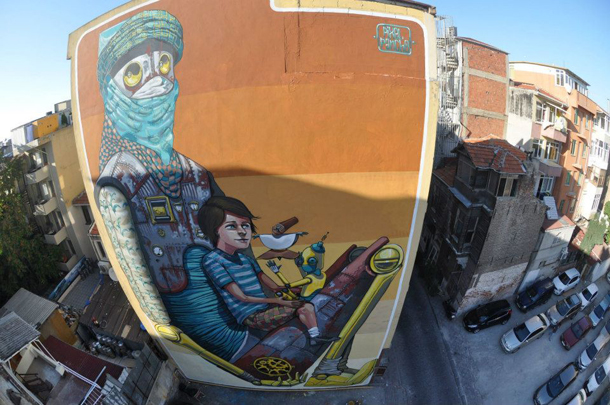 Pixel Pancho - New Mural in Istanbul for Mural-Ist Festival