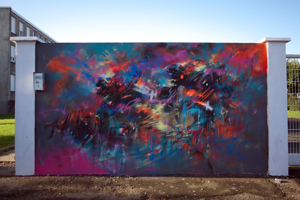 Mr Jago - Mural and Exhibition at le 4eme Mur Festival