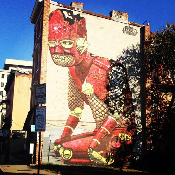 Pixel Pancho - New Mural for Baltimore Articulate