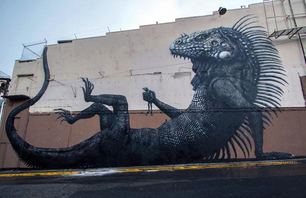 ROA - New Mural at Los Muros Hablan Festival