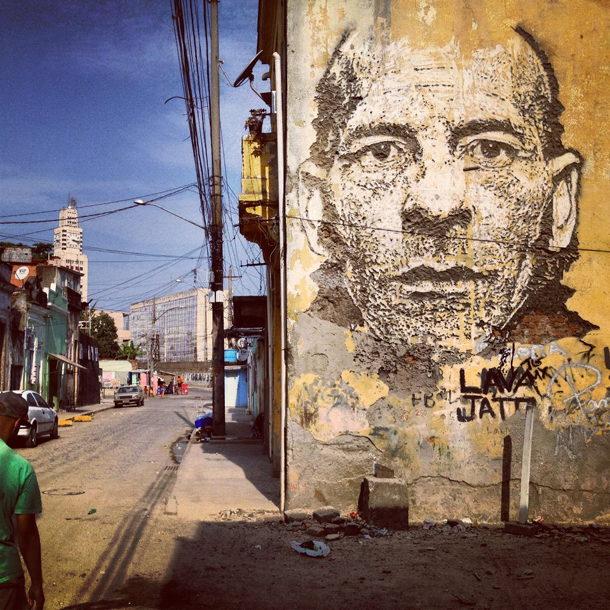Vhils – New Mural in Rio de Janeiro Part III