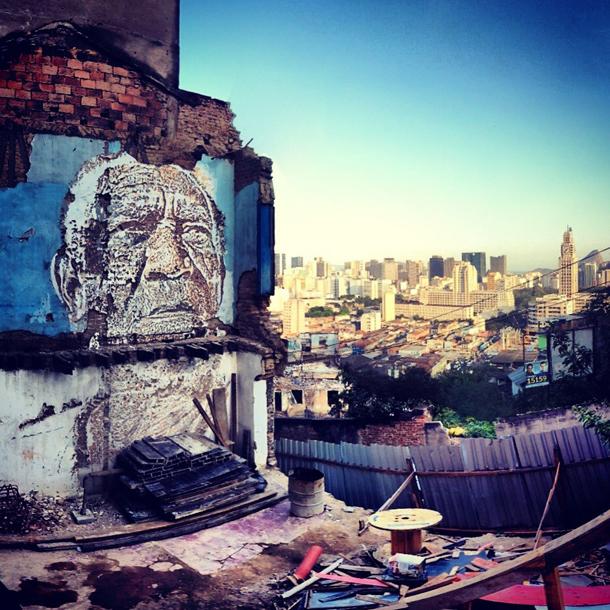 Vhils - New Mural in Rio de Janeiro