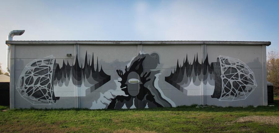 Ciredz x Aris x G.Loois - New Mural in Bologna
