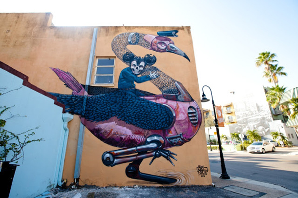 Pixel Pancho - New Mural for Sarasota Chalk Festival