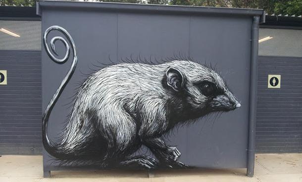 ROA - New Murals In Healesville, Australia