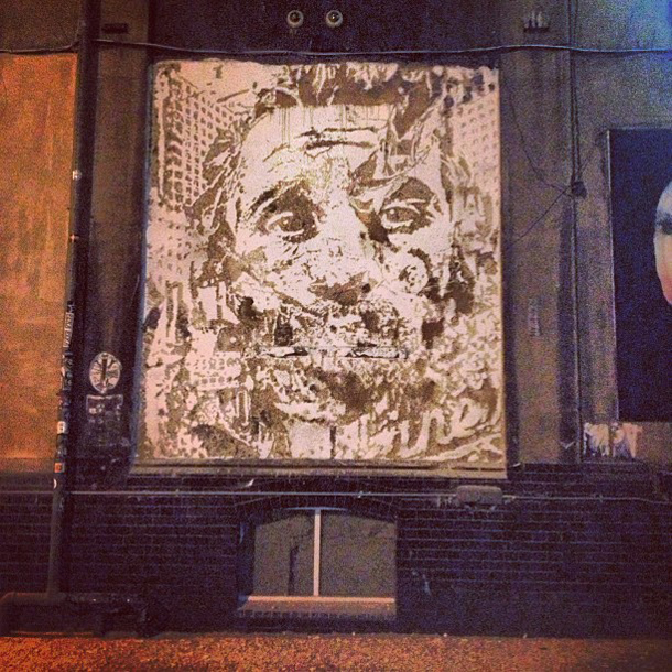 Vhils - New Mural at The Old Truman Brewery