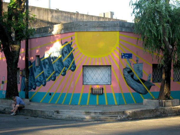 Gaia x Nanook - New Mural in Barracas