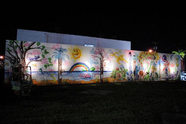 Kenny Scharf - New Mural at Art Basel 2012