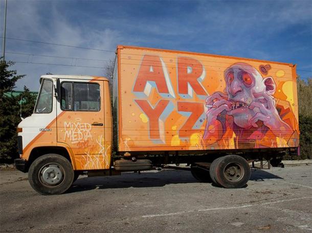 Aryz-Mixed-Media-on-a-Series-of-Trucks-01