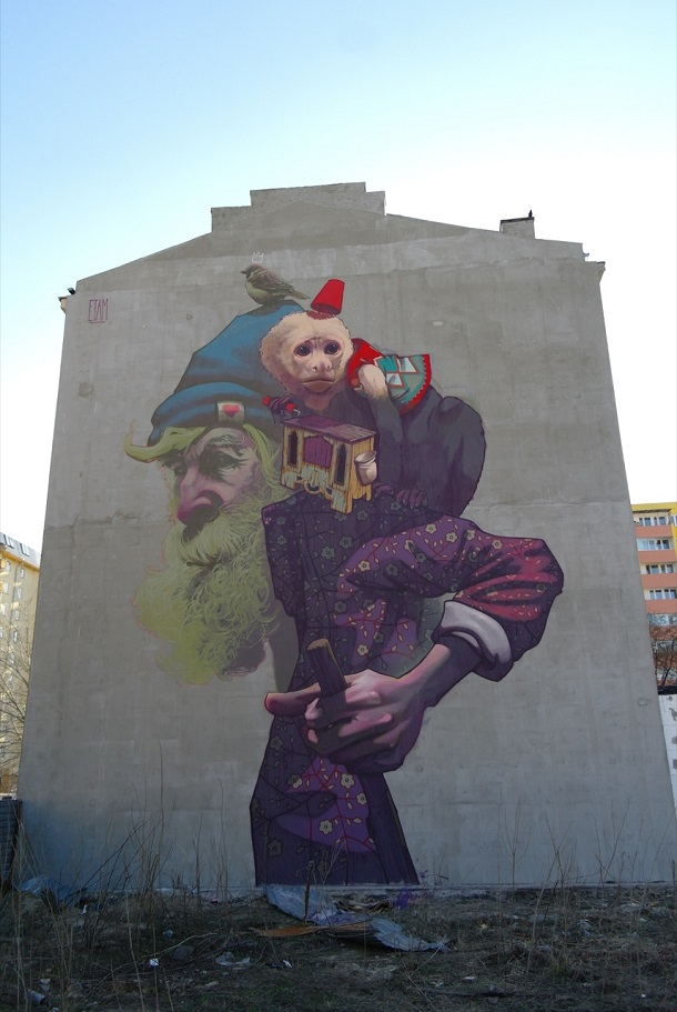 Etam Cru - New Mural in Warsaw, Poland