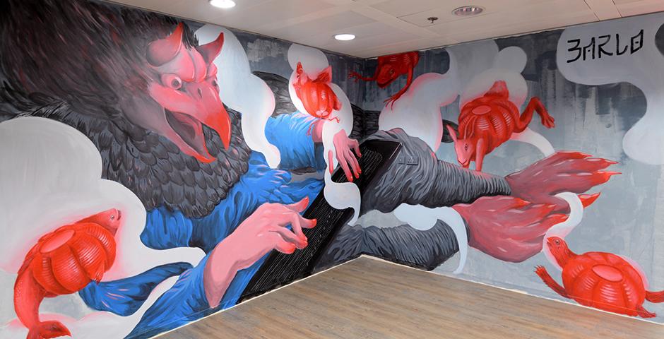 """Barlo – """"Gathering"""" New Mural in Hong Kong"""