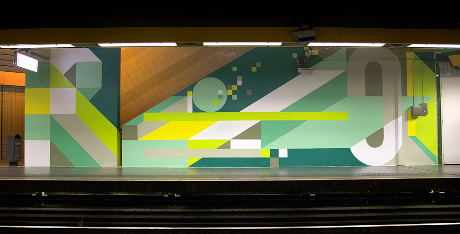 "Nelio New Mural at Station ""Mermoz"" in Lyon"
