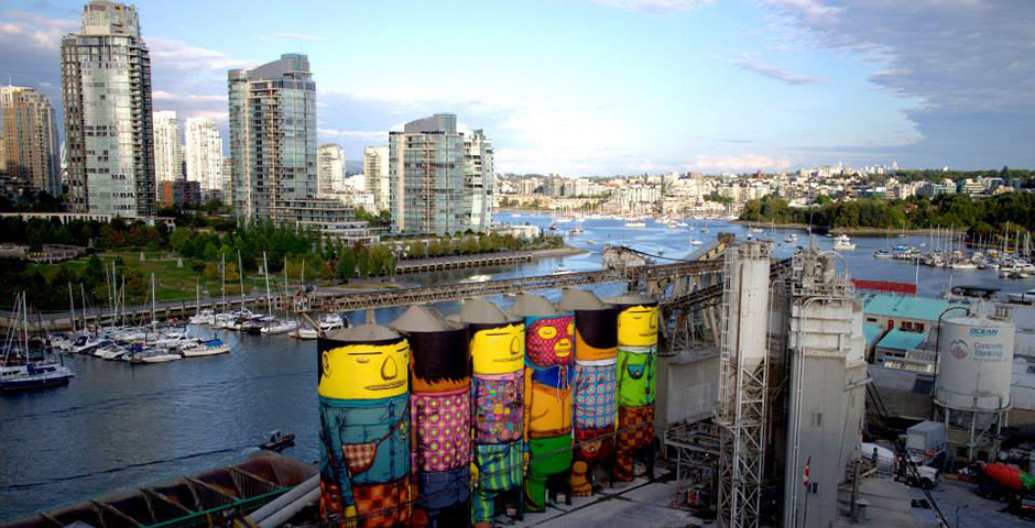 Os Gemeos – New Mural for The Vancouver Biennale