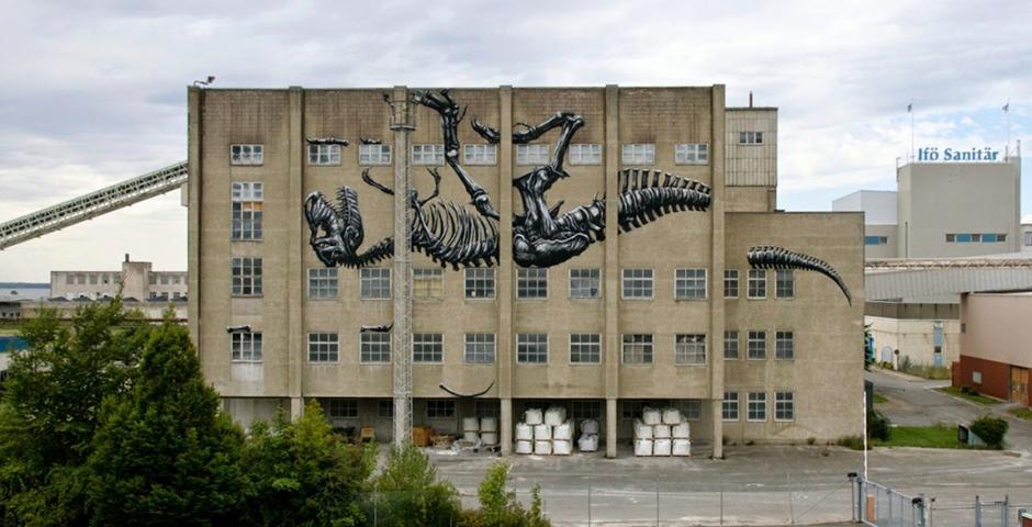 ROA – New Mural in Bromölla, Sweden