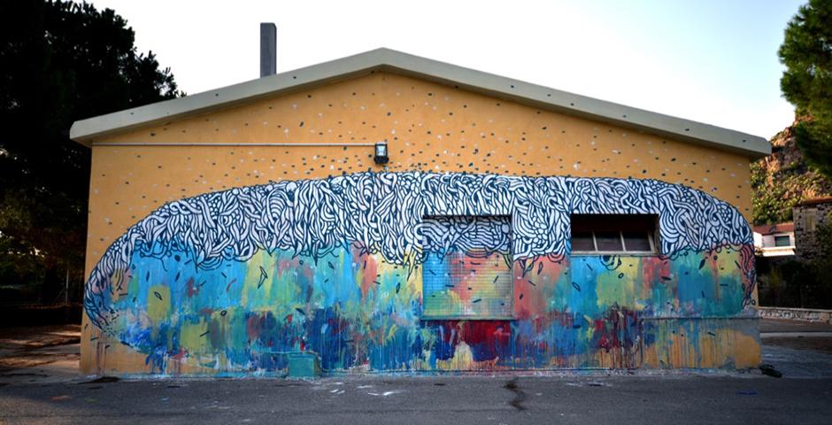 "Tellas ""Muralismo / Ruralismo"" in Ittireddu, Sardinia"
