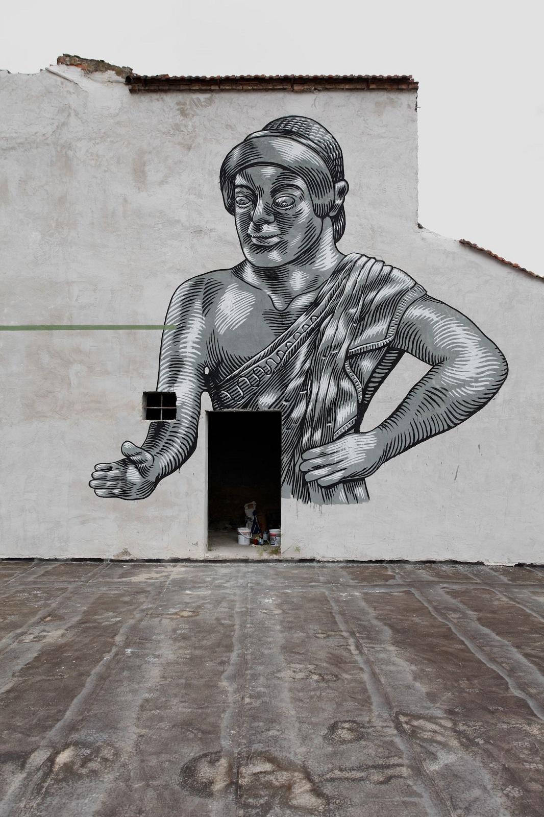 Die Mauer Street Art,  Prato, 2014. ©Carlo Chiavacci Fotografo