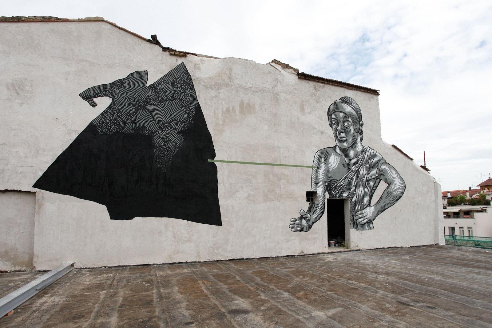 Die Mauer Street Art,  Prato, 2014. �Carlo Chiavacci Fotografo