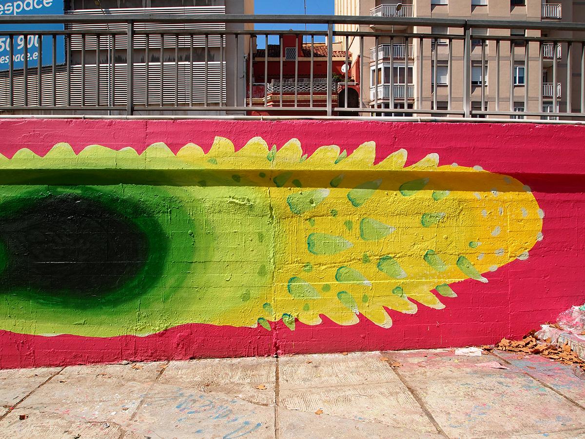 Gola Hundun - New Mural in Barcelona