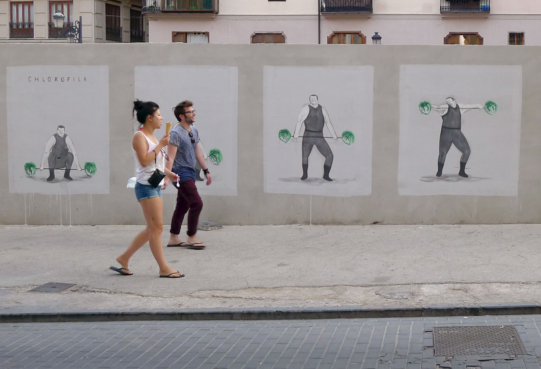 "Escif – ""Chlorophyll"" New Mural in Valencia"