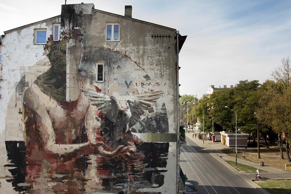 Borondo – New Mural in Łódź