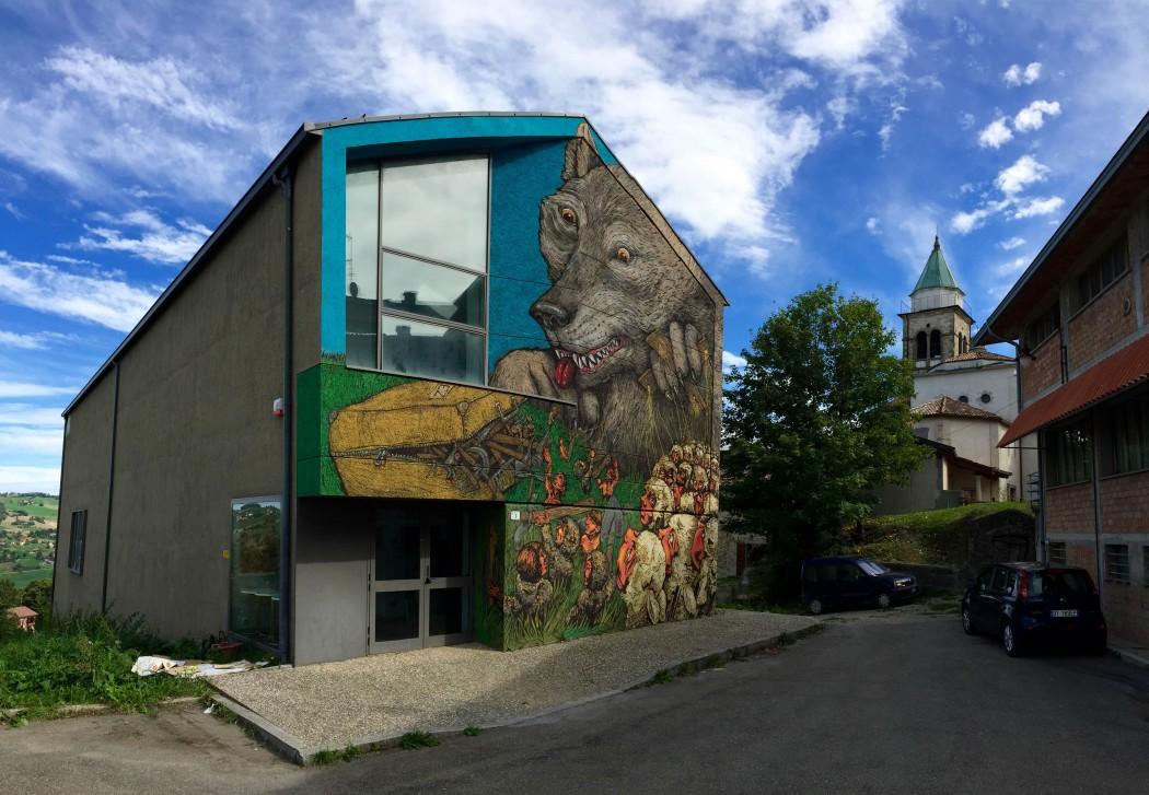 Ericailcane x Bastardilla – New Mural in Villa Minozzo