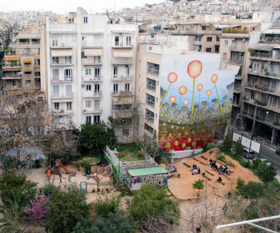 Blu street art Exarchia Athens