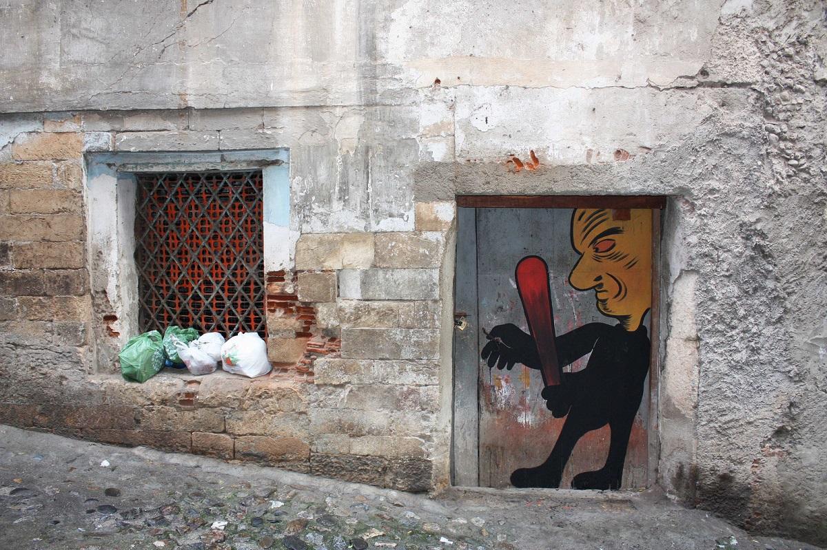 Diego Miedo Street Art Cosenza Vecchia