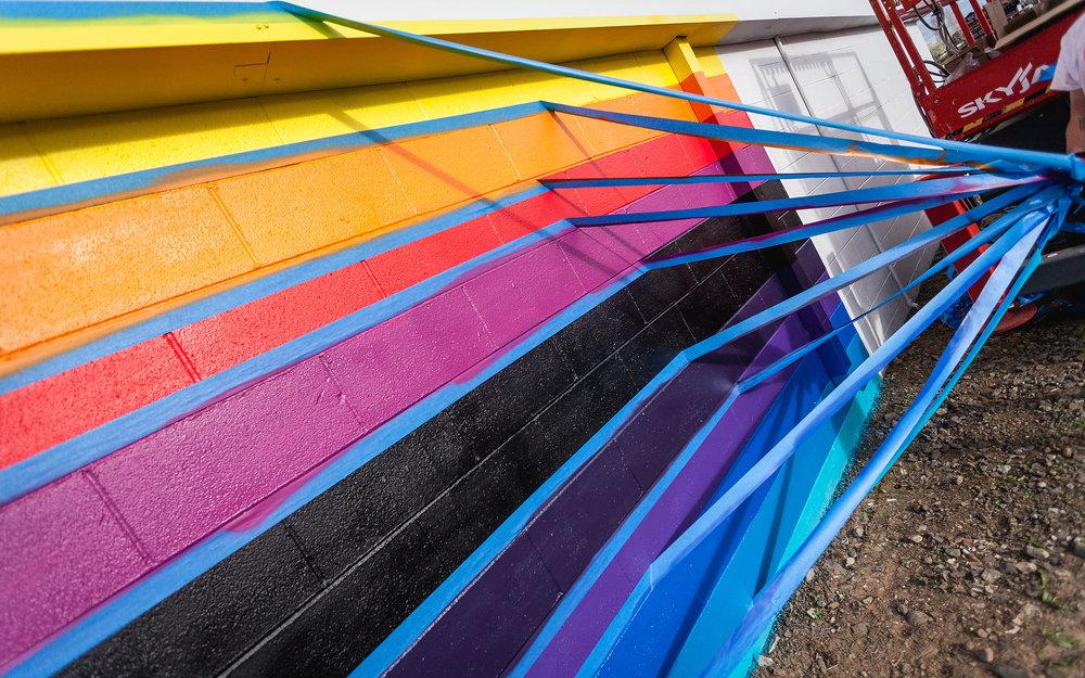 Felipe Pantone street art Napa Valley Radnapa Project