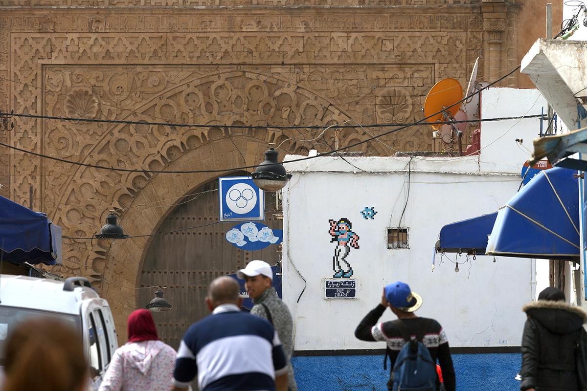Invader Street Art Rabat Morocco