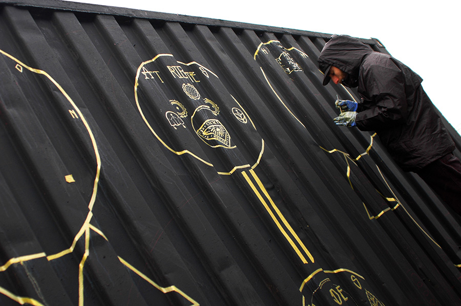 LeonKa street art Keep It Fresh Amsterdam The Sea Container Project