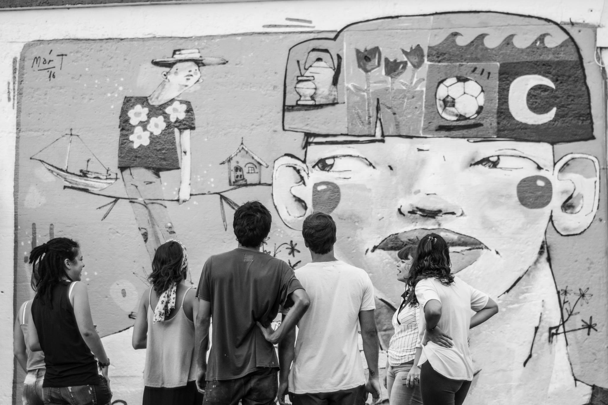 MART Street art Armstrong Campo en Blanco