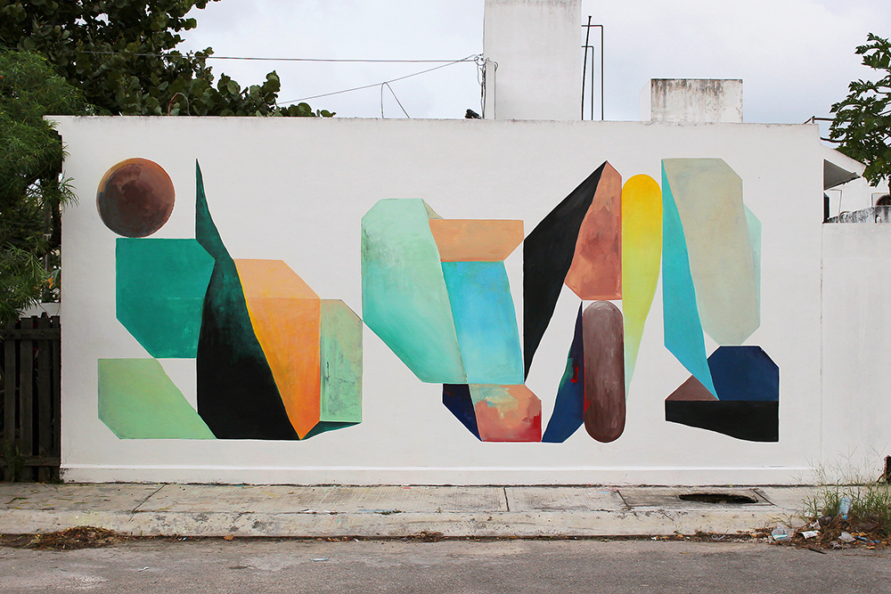 Nelio Street art Tulum Campeche