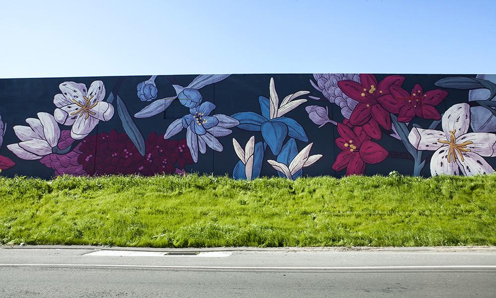 pastel street art San Leandro, California