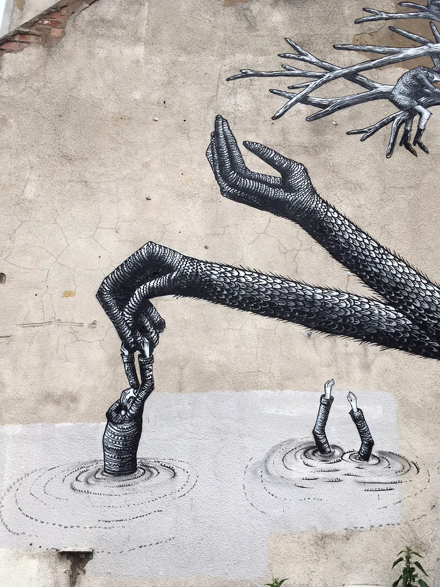 Phlegm Street art Birmingham