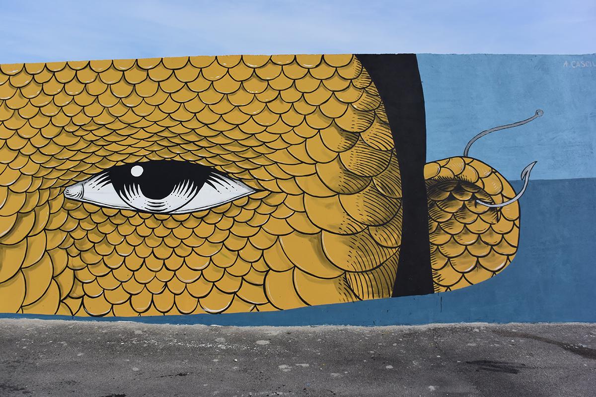 Andrea Casciu Street Art Civitanova Marche Vedo a Colori