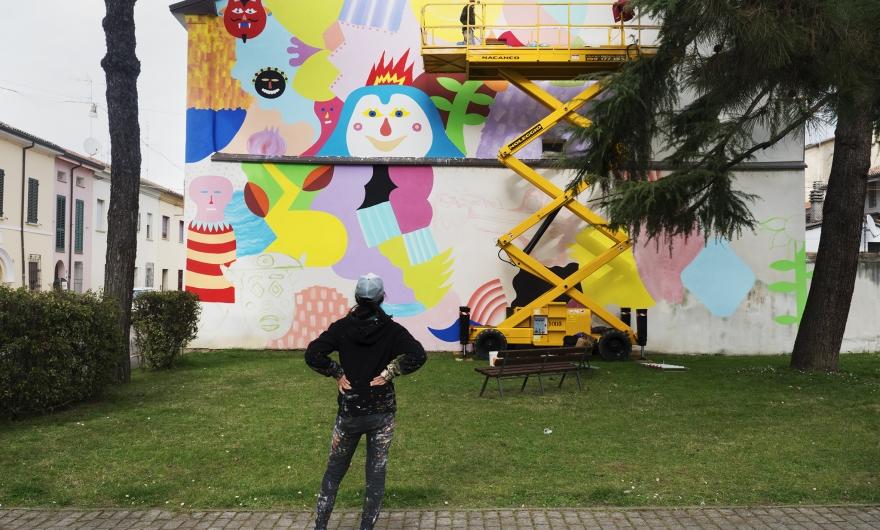 Zosen Mina Hamada Street Art Cotignola