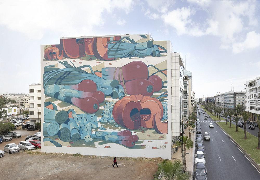 Aryz Street Art Rabat Jidar Festival