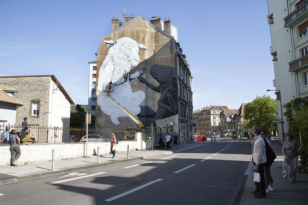 Ericailcane Besançon street art Bien Urbain Festival