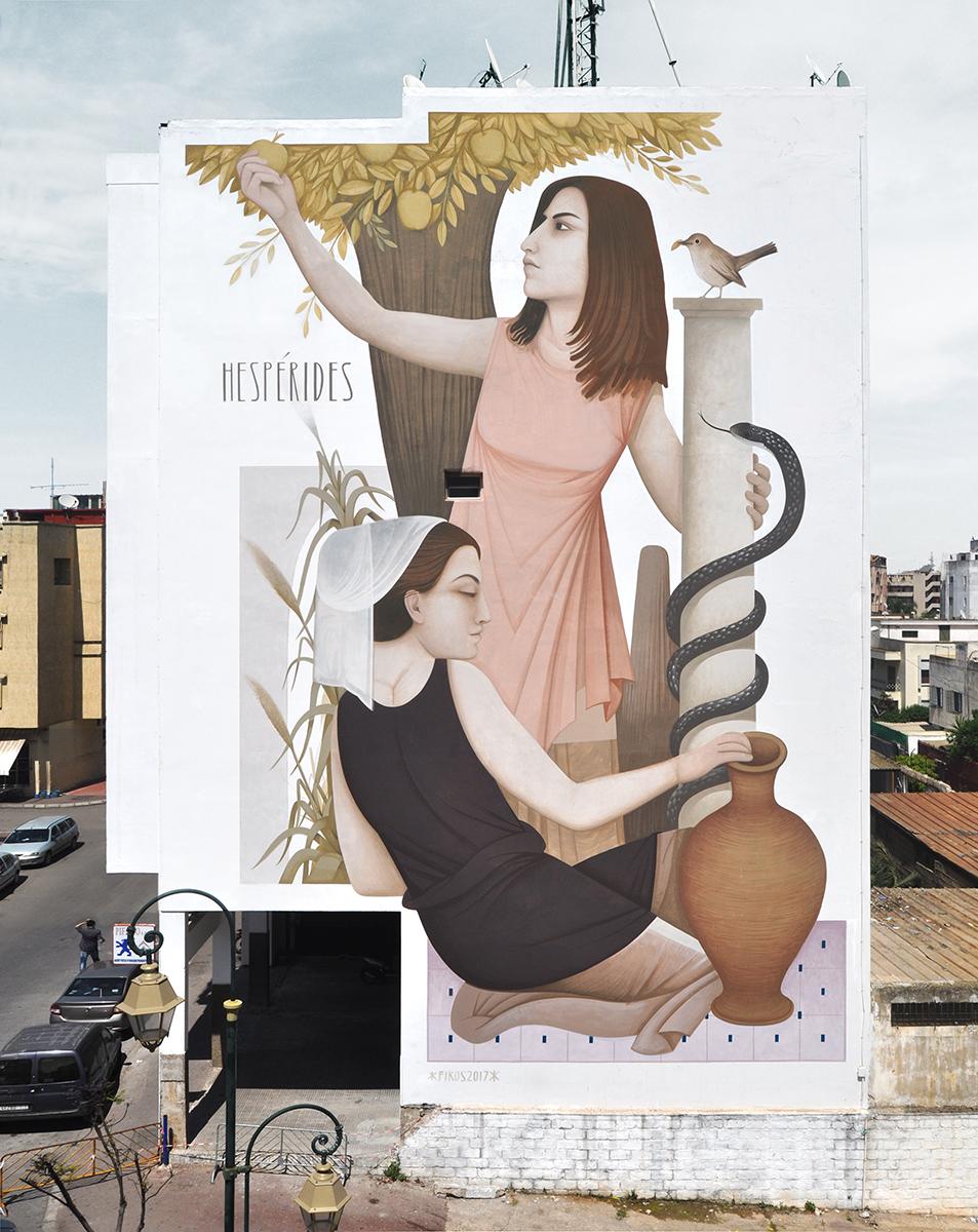 Fikos Street Art Rabat Marocco Jidar Festival